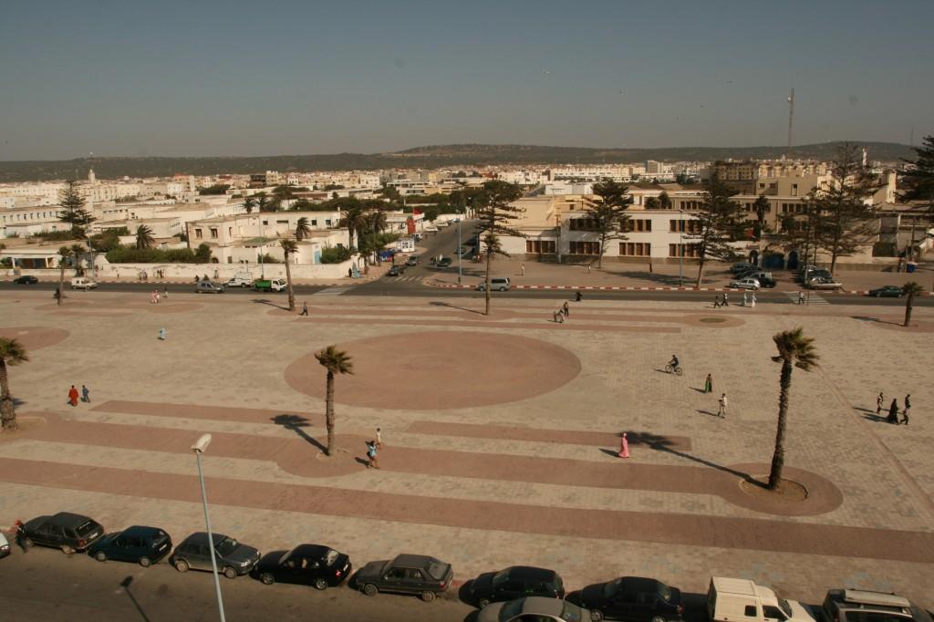 A square in Essaouira Morocco.