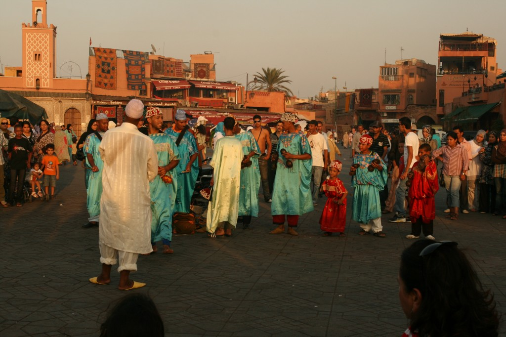 Dancers in Djemaa el Fna