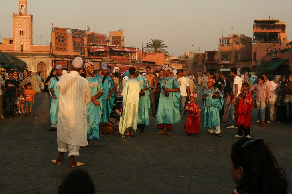 Dancers in Djemaa el Fna