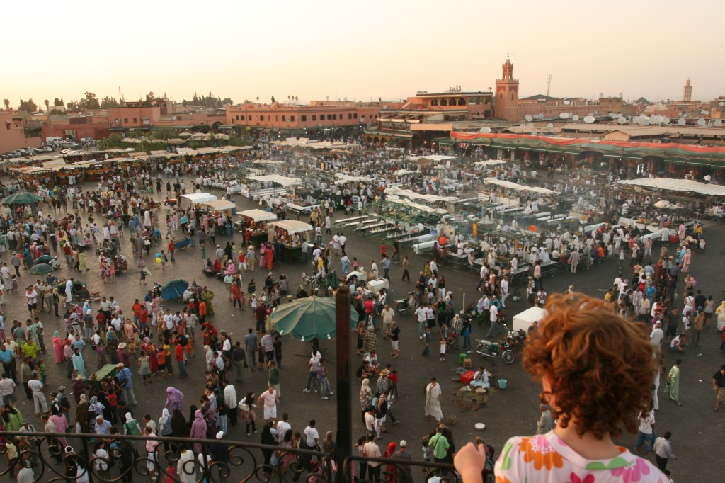 Sydney at the Djemaa el Fna