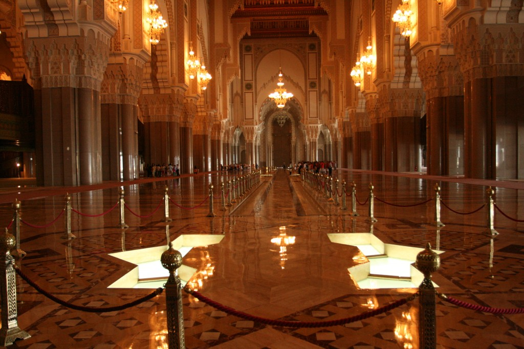 Inside the Hassan 11 mosque