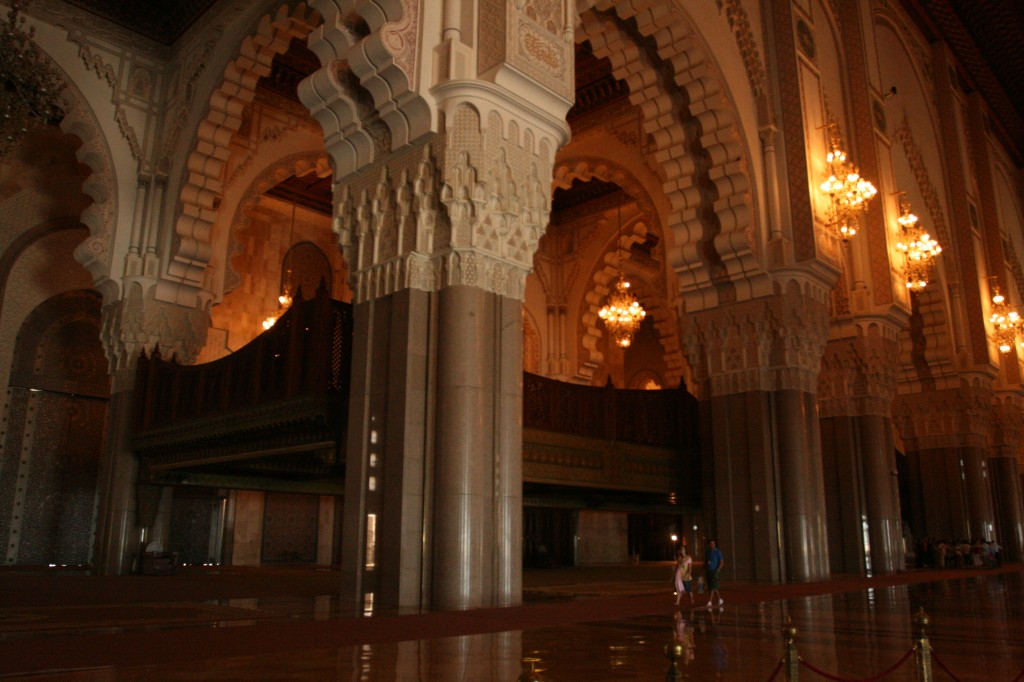 The interior of the Hassan II Mosque