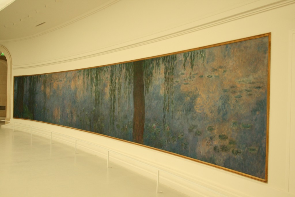 A panel of the Nymphéas at the Musée de l'Orangerie, Paris